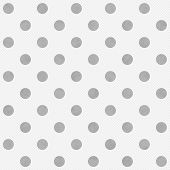 Gray And White Large Polka Dots Pattern Repeat Background