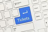 White Conceptual Keyboard - Tickets (blue Key)