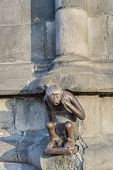 Guardhouse Monkey Statue In Mons, Belgium.