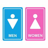Vector Male and female restroom icons