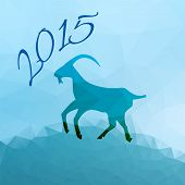 Geometric Pattern Goat. Chinese Astrological Sign. New Year 2015.
