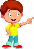 image of fidget  - illustration of Little boy pointing away isolated on white - JPG