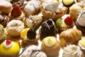 full frame photo of various italian pastries