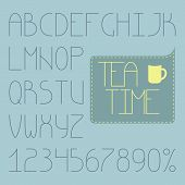 Full Infographic Thin Alphabet