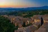 Dawn In Old Italian Town