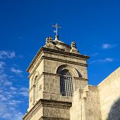 Steeple of the Monastery Santa Catalina in Arequipa, Peru