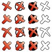 Collection Of Red Crosses