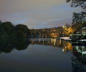 Van Cortlandt Park At Night In Winter