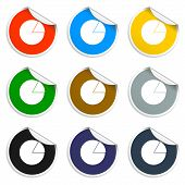Circular Diagram Web Icon. Set Of Blank Stickers