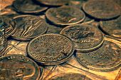 Old Photo With Old Coins