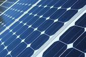Paneles solares azul