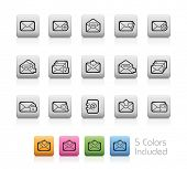 E-mail Icons // Outline Buttons - Each color in a layer. To see the desired color, you need to make it visible in the layer panel -- EPS 10+ Contain Transparencies