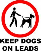 Keep Dogs on a Lead Symbol
