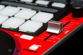 Red DJ mixer