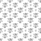 Vector background for golf. Golf flag