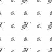 Monochrome vector background for golf bag