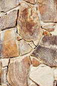 Old Worn Wall Made Of Natural Stone