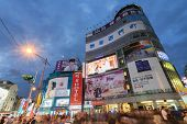 TAIPEI, TAIWAN - November 16th : lively night scene of Ximending  , Taiwan on November 16th, 2014.