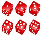 Illustration of a set of red dices