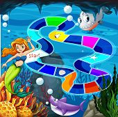 Board game with mermaid theme