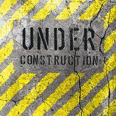 Under Construction Illustration. Raster version
