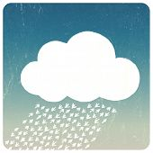 Grunge Cloud Concept. Raster version