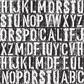 Letterpress seamless background. Black and white version. Raster version