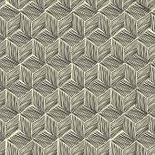 Seamless hand-drawn pattern rhombus. Raster version