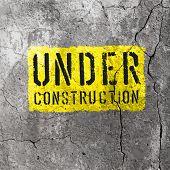 Under Construction Sign. Raster version