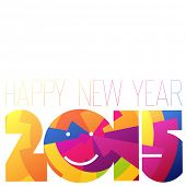 Happy New Year 2015 Colorful Design. Raster version