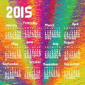 Calendar 2015. Raster version