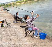 girl fisherman