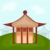 Beautiful Chinese architecture design on nature view background.