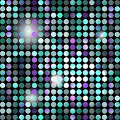 Abstract Seamless Pattern Of Colored Dots With Backlight