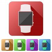 Set flat icons of Original design smartwatch.