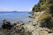 Rocky coast of the Aegean Sea.