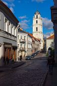 VILNIUS, LITHUANIA - SEPTEMBER 26: The Church of St. Johns at day time on September 26, 2014 in Vilnius, Lithuania.