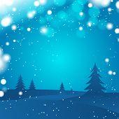 abstract dark winter forest