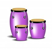 Congas band in purple design