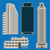 Buildings Set With Skyscrapers