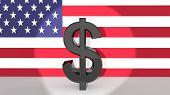 Dollar Symbol In Spotlight
