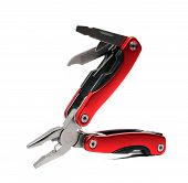 Pocket Multi Tool Pliers With Red Handles