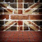 interior of england flag backgroud