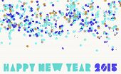 picture of funfair  - Creative happy new year 2015 with colorful confetti background - JPG