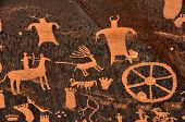 Ancient Indian Petroglyph at Newspaper Rock in Southern Utah