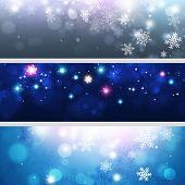 Snow Xmas Banners