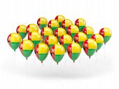 Balloons With Flag Of Guinea Bissau