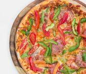 Delicious Pizza On White