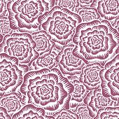 Etched Roses Seamless Pattern