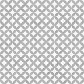Gray And White Interconnected Circles Tiles Pattern Repeat Background